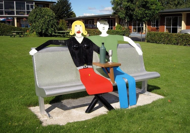 public bench art new zealand