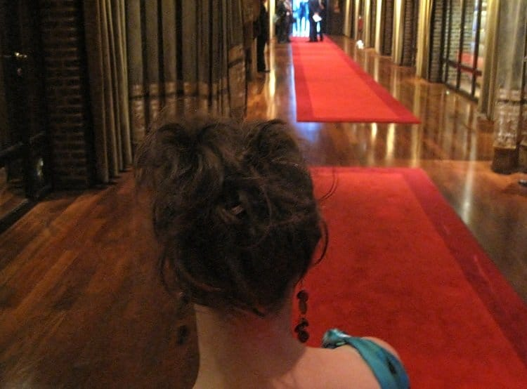 updo How to Attend a Black Tie Event While Backpacking