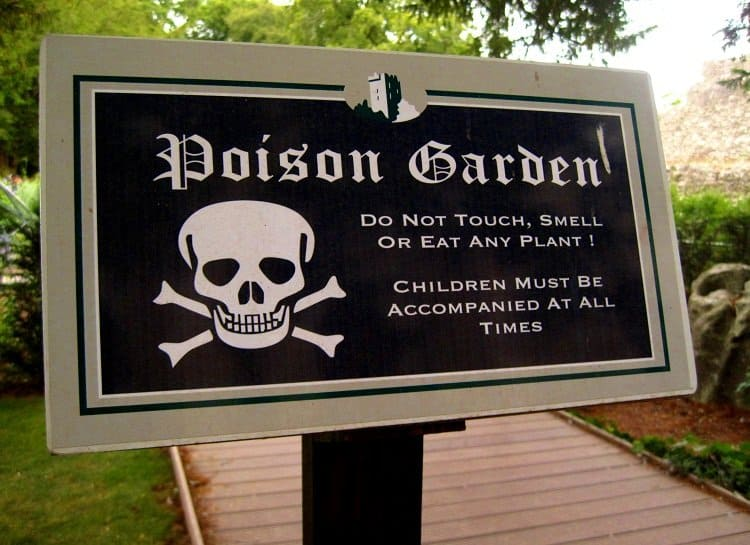 sign Life in the Poison Garden