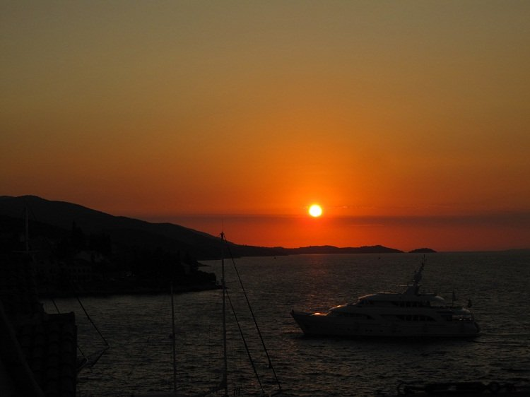 korcula sunset