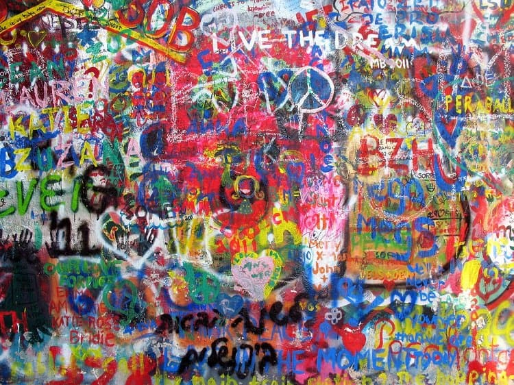 John Lennon Wall Prague graffiti