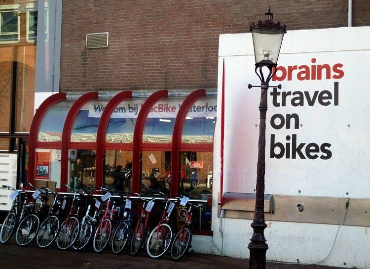 brains travel on bikes