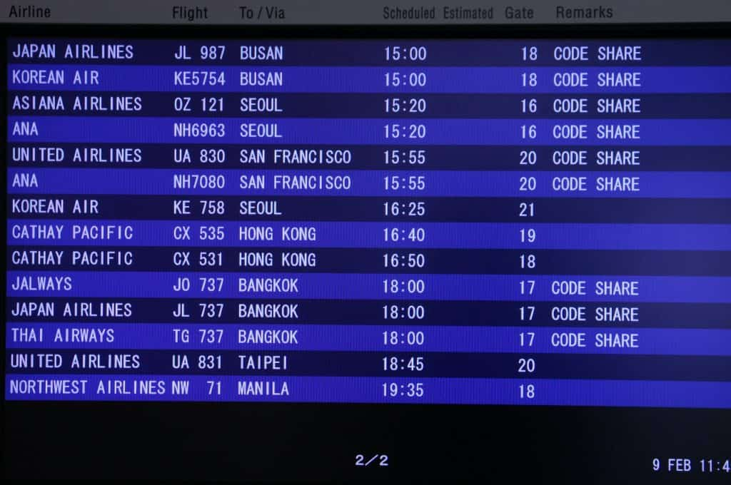airport information screen