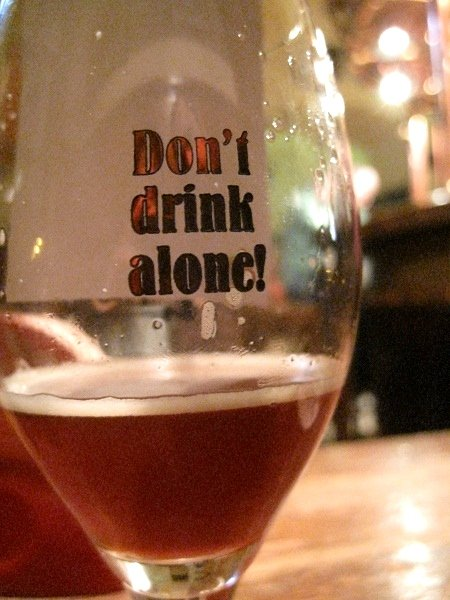 don't drink alone glass