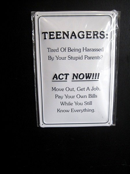 teenagers know it all sign