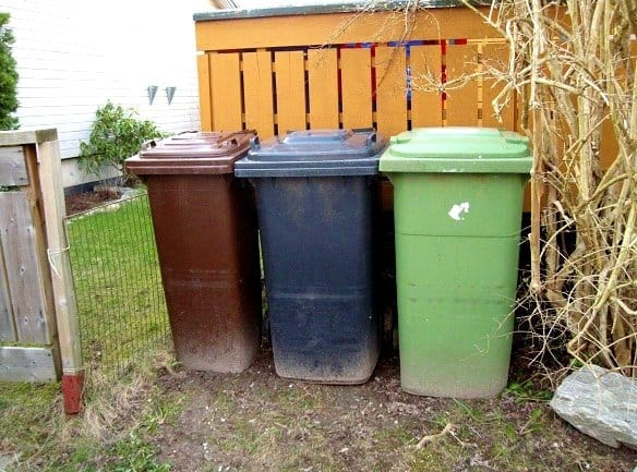 residential recycling bins Norway