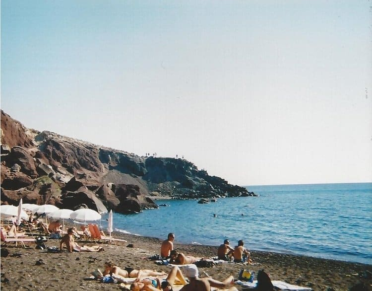 red beach santorini Travel Memories: Crete and Santorini (or, the story of how we met)