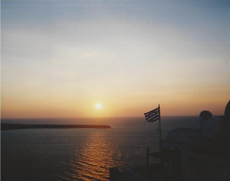 santorini sunset Travel Memories: Crete and Santorini (or, the story of how we met)
