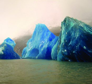 blue ice in Patagonia