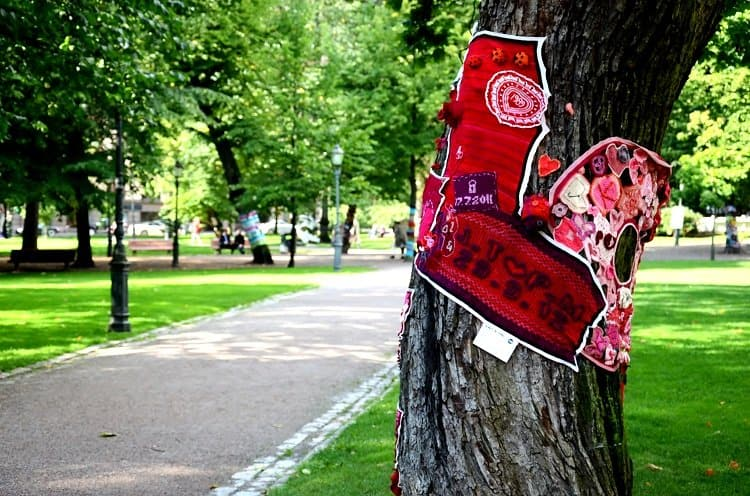 knit trees helsinki Outdoors In Helsinkis Parks and Markets