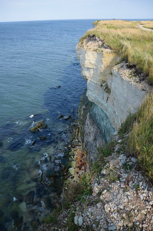 estonia limestone cliff pakri