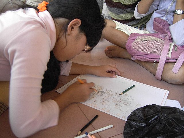 child coloring orphanage