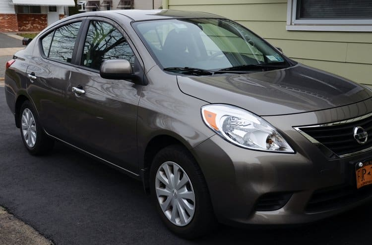 Nissan versa rental car
