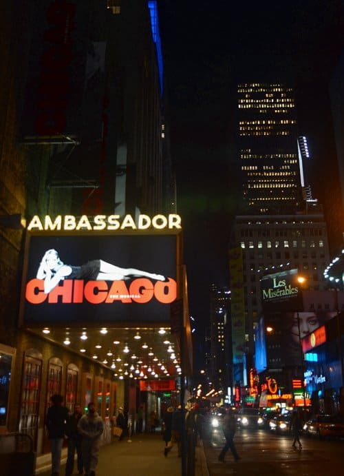 ambassador theater nyc nigh An Evening On Broadway: Seeing Chicago In New York City