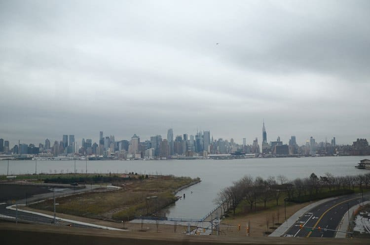 view of Manhattan from New Jersey