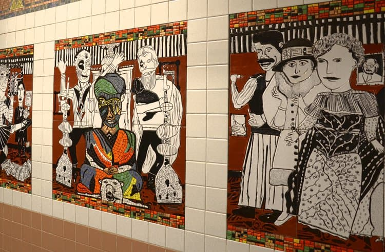 west village ny subway tile art
