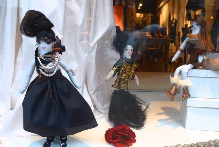 west village shop window dolls