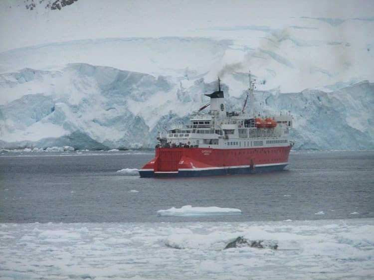 andvord bay ship Arrival On the Antarctic Mainland