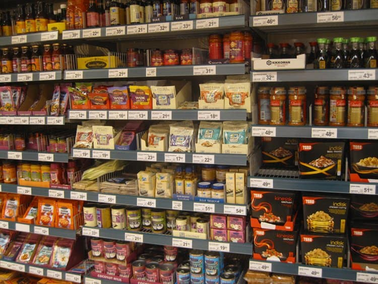 asian section norway supermarket