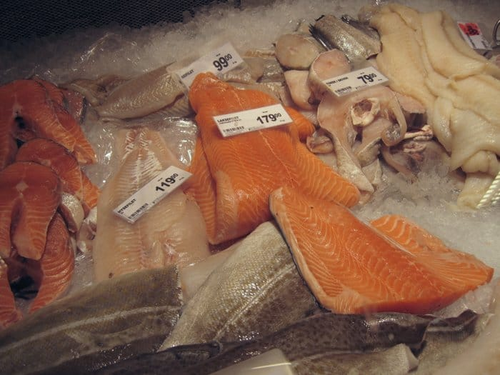 fresh fish supermarket in Norway