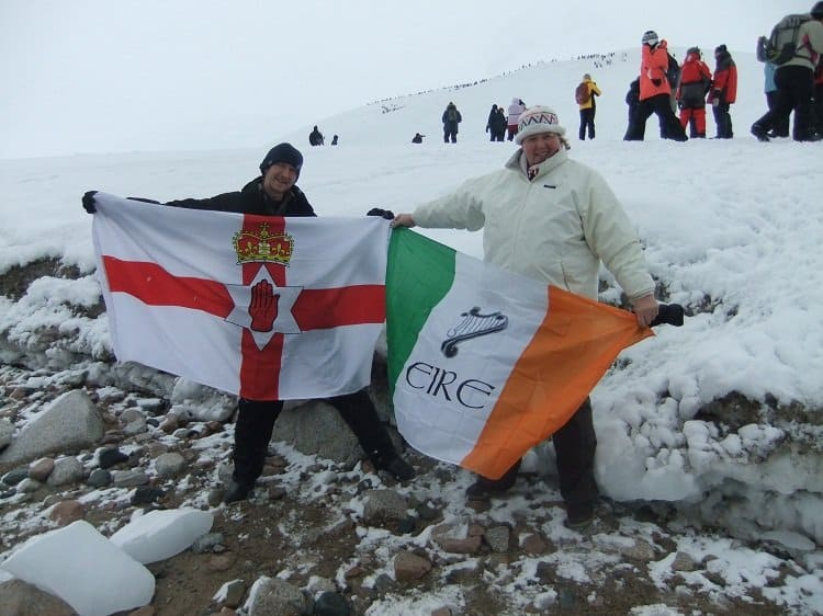 irish flags antarctica Arrival On the Antarctic Mainland