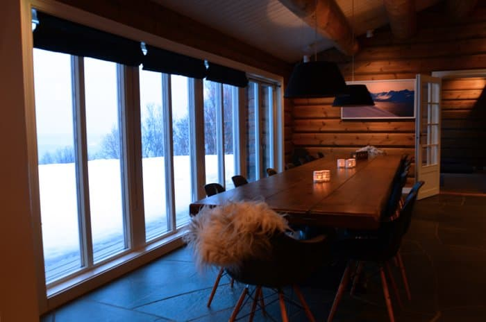 lyngen lodge dinner table Arctic Gem: Lyngen Lodge, Norway