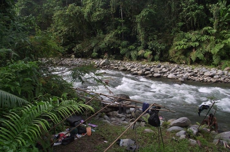 makeshift camp by the river Sumatra c Sam Owen Seeking Orangutans On a Sumatran Jungle Trek