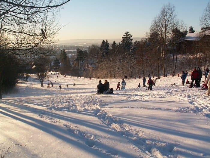 Norwegian outdoors winter