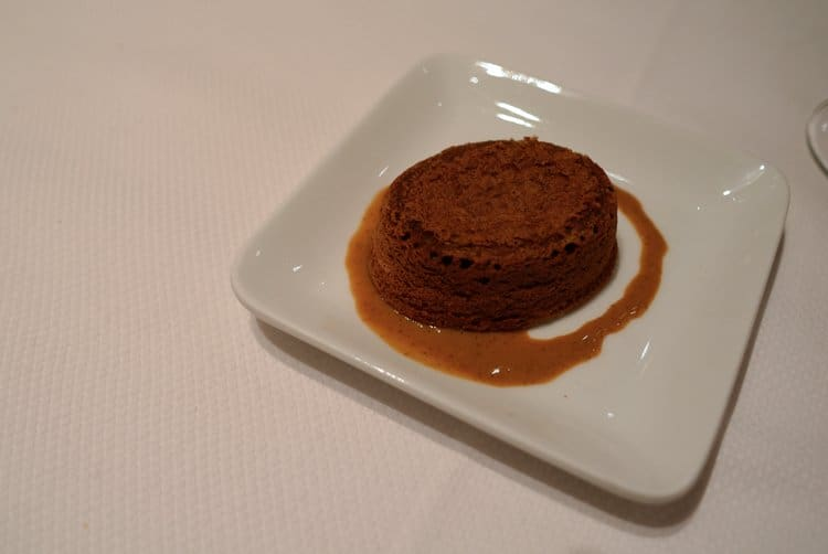 Chocolate fondant at Le Gourmet de Seze