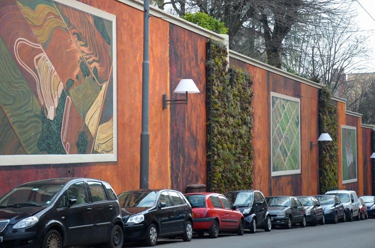 lyon mural with plants