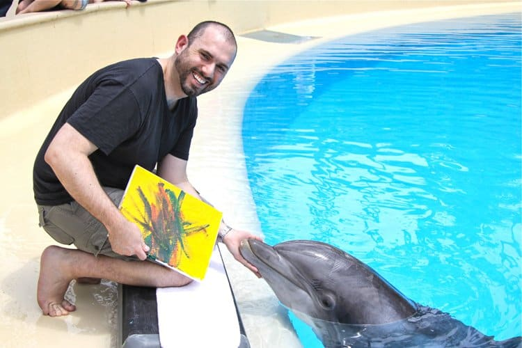 painting with dolphins mirage