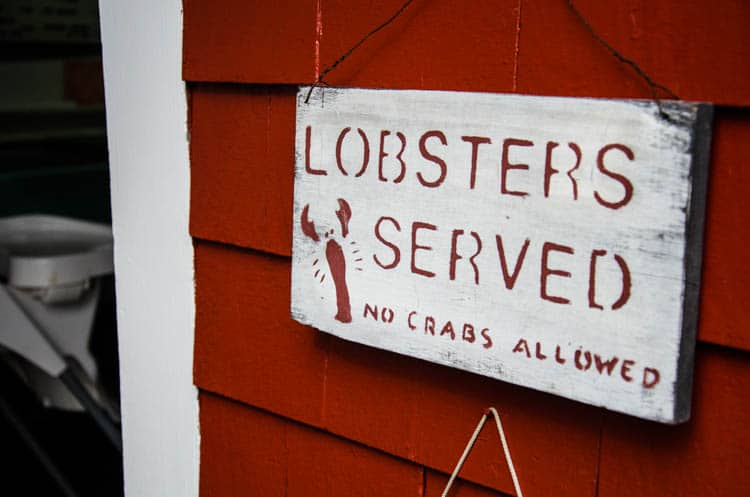 maine lobster sign