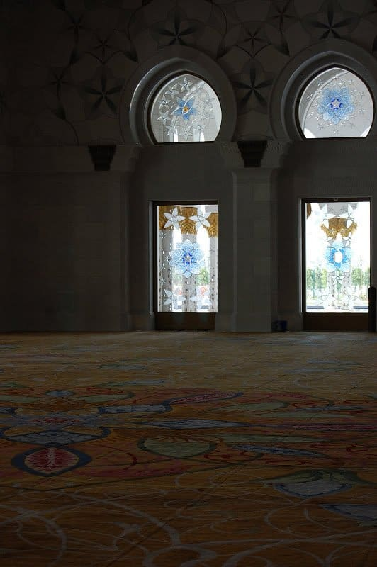 Sheikh Zayed Grand Mosque windows