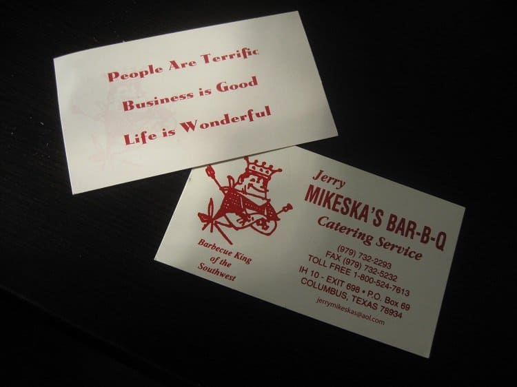 jerry mikeska business cards