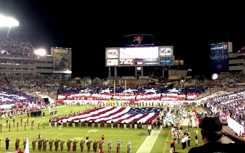 America doesn't so things by half measures - really feeling the patriotism here in Tampa