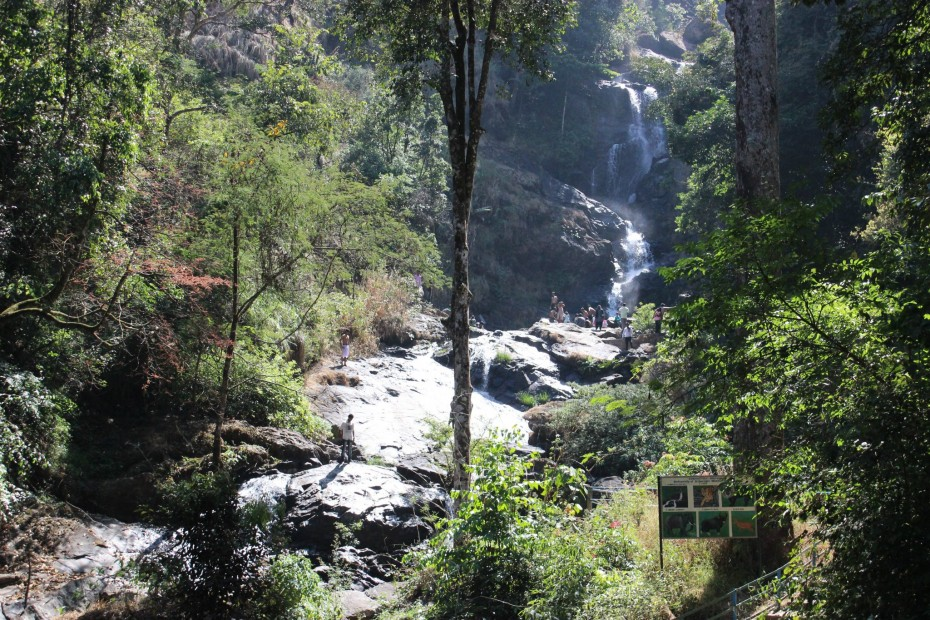 View of the Iruppu falls from the ground *